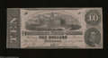 Confederate Notes:1862 Issues, T52 $10 1862. A light center fold is found on this 4 ...
