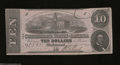 Confederate Notes:1862 Issues, T52 $10 1862. A faint fold and a pinhole determine this ...