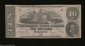 Confederate Notes:1862 Issues, T52 $10 1862. Light vertical folds are found on this 3rd ...