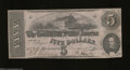 Confederate Notes:1862 Issues, T53 $5 1862. This 2nd Series $5 has light folds. Very ...