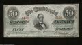 Confederate Notes:1863 Issues, T57 $50 1863. This is a beautiful wavy line watermarked $...