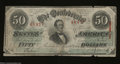 Confederate Notes:1863 Issues, T57 $50 1863. The green undertint adds to the desirability ...
