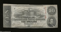 Confederate Notes:1863 Issues, T59 $10 1863. Light folds reside on this 2nd Series $10.