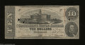 Confederate Notes:1863 Issues, T59 $10 1863. The cut cancels have caused three small ...