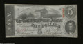 Confederate Notes:1863 Issues, T60 $5 1863. This lightly handled 2nd Series $5 has two ...