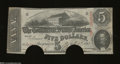Confederate Notes:1863 Issues, T60 $5 1863. The note guillotine of the Confederacy ...