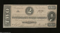 Confederate Notes:1864 Issues, T70 $2 1864. Sharp edges and not a hint of wear is seen ...