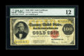 Large Size:Gold Certificates, Fr. 1215 $100 1922 Gold Certificate PMG Fine 12....