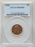Proof Sets, 1942 Six-Piece Proof Set PR65 to PR66 PCGS. This Set Includes: Cent PR65 Red; Nickel Type One PR66; Nickel Type Two PR66; ... (Total: 6 coins)