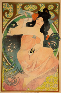 Alphonse Mucha (Czech, 1860-1939) JOB, 1898 Lithograph in colors on paper 62 x 39-1/4 inches (157
