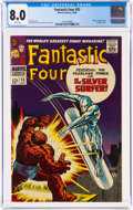 Silver Age (1956-1969):Superhero, Fantastic Four #55 (Marvel, 1966) CGC VF 8.0 White pages....