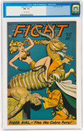 Golden Age (1938-1955):Adventure, Fight Comics #54 (Fiction House, 1948) CGC NM- 9.2 Off-white pages....