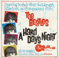 "A Hard Day's Night (United Artists, 1964). Folded, Very Fine-. Six Sheet (80.25"" X 78.75"")"