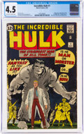 Silver Age (1956-1969):Superhero, The Incredible Hulk #1 (Marvel, 1962) CGC VG+ 4.5 Off-white to white pages....