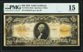 Large Size:Gold Certificates, Fr. 1187 $20 1922 Mule Gold Certificate PMG Choice Fine 15.. ...