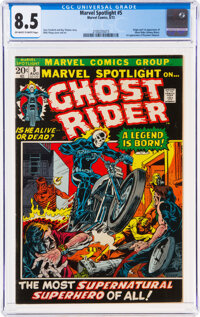 Marvel Spotlight #5 Ghost Rider (Marvel, 1972) CGC VF+ 8.5 Off-white to white pages