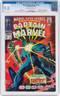 Silver Age (1956-1969):Superhero, Marvel Super-Heroes #13 Captain Marvel (Marvel, 1968) CGC VF/NM 9.0 Off-white to white pages....