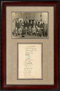 Baseball Collectibles:Others, 1934 Tour of Japan Team Signed Sheet Display....