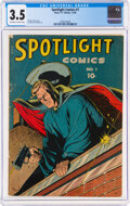 Golden Age (1938-1955):Adventure, Spotlight Comics #1 (Chesler, 1944) CGC VG- 3.5 Off-white to white pages....