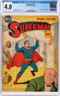 Golden Age (1938-1955):Superhero, Superman #4 (DC, 1940) CGC VG 4.0 Cream to off-white pages....