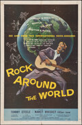 """Movie Posters:Rock and Roll, Rock Around the World (American International, 1957). Folded, Fine/Very Fine. One Sheet (27"""" X 41""""). Rock and Roll.. ..."""