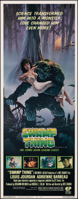 "Swamp Thing (Embassy, 1982). Rolled, Very Fine/Near Mint. Insert (14"" X 36"") Richard Hescox Artwork. Horror..."