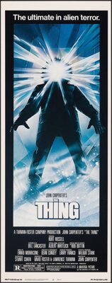 "The Thing (Universal, 1982). Rolled, Very Fine/Near Mint. Insert (14"" X 36"") Drew Struzan Artwork. Horror"