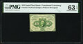 Fractional Currency:First Issue, Fr. 1241 10¢ First Issue PMG Choice Uncirculated 63 EPQ.