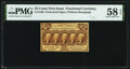 Fractional Currency:First Issue, Fr. 1280 25¢ First Issue PMG Choice About Unc 58 EPQ....