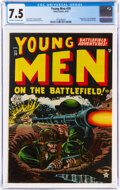 Golden Age (1938-1955):War, Young Men #20 (Atlas, 1953) CGC VF- 7.5 Off-white to white pages....