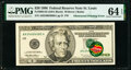 Error Notes:Obstruction Errors, Obstructed Printing Error with Retained Obstruction Fr. 2084-H $20 1996 Federal Reserve Note. PMG Choice Uncirculated 64 EPQ....