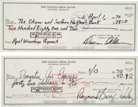 The Allman Brothers Band Checks Signed by Duane Allman and Berry Oakley (1970)