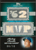 Baseball Cards:Singles (1970-Now), 2007 Topps Sterling Mickey Mantle Bat/Jersey Relic Card #5SS-4 - Serial Numbered 6/10. ...