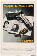 "Movie Posters:Action, The Getaway (National General, 1972). Folded, Overall: Very Fine. One Sheet (27"" X 41"") & Lobby Cards (7) (11""X 14""). Action... (Total: 8 Items)"