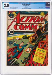 Action Comics #46 (DC, 1942) CGC GD/VG 3.0 Off-white to white pages