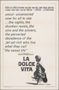 """Movie Posters:Foreign, La Dolce Vita (American International, R-1966). Folded, Very Fine-. One Sheet (27"""" X 41""""). Foreign.. ..."""