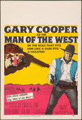 """Movie Posters:Western, Man of the West (United Artists, 1958). Very Fine. Window Card (14"""" X 22""""). Western.. ..."""