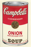 Prints & Multiples, Andy Warhol (1928-1987). Onion, from Campbell's Soup I, 1968. Screenprint in colors, on smooth wove paper. 35 x 23 i...