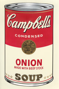 Andy Warhol (1928-1987) Onion, from Campbell's Soup I, 1968 screenprint in colors, on smo