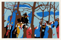 Jacob Lawrence (1917-2000) The Swearing In, 1977 Screenprint in colors on cream wove paper 19-7/8