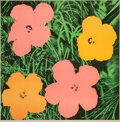 Prints & Multiples, Andy Warhol (1928-1987). Flowers, 1964. Offset lithograph in colors on paper. 23 x 23 inches (58.4 x 58.4 cm) (sheet). E...