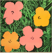 Andy Warhol (1928-1987) Flowers, 1964 Offset lithograph in colors on paper 23 x 23 inches (58.4 x