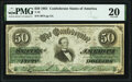 Confederate Notes:1861 Issues, T16 $50 1861 PF-11 Cr. 83 PMG Very Fine 20.. ...