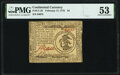 Continental Currency February 17, 1776 $3 PMG About Uncirculated 53
