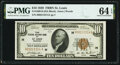 Fr. 1860-H $10 1929 Federal Reserve Bank Note. PMG Choice Uncirculated 64 EPQ