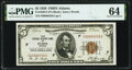 Fr. 1850-F $5 1929 Federal Reserve Bank Note. PMG Choice Uncirculated 64