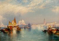 Thomas Moran (American, 1837-1926) Venetian Scene, 1894 Oil on canvas 14 x 20 inches (35.6 x 50.8 cm) Signed and dat