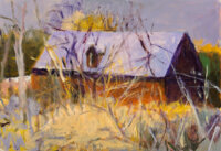 Wolf Kahn (American, 1927-2020) Barn with a Light Purple Roof, 2004 Oil on canvas 22 x 32 inches
