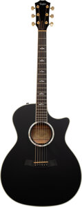 Musical Instruments:Acoustic Guitars, 2011 Taylor 614ce Black Acoustic Electric Guitar, Serial #1101041054.. ...