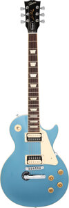 Musical Instruments:Electric Guitars, 2012 Gibson Les Paul Standard Pelham Blue Solid Body Electric Guitar, Serial #115120424.. ...